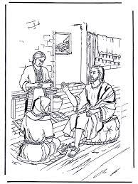 Maria En Martha 1 Bijbel Kleurplaten Nieuwe Testament