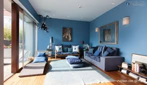 blue living rooms interior design. Amazing Living Room Blue Walls Partition Sofa And Rooms Interior Design O