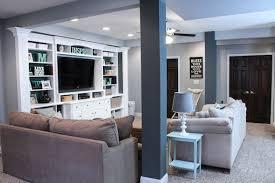 basement ideas. Finished Basement Ideas - Before \u0026 After Built In Entertainment Center Basement Ideas I