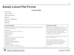 Format For Lesson Plans Example Lesson Plan Template Bookmylook Co