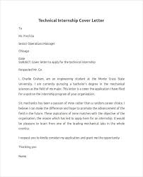 technical internship cover letter with technical cover letter technology cover letters
