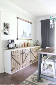 barn door kitchen cabinets sliding