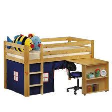 low loft bed 6 drawer dresser natural computer desk for students natural junior loft