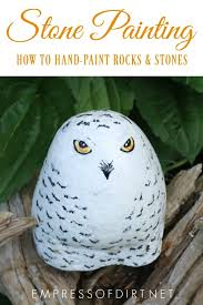 tips and tutorials for hand painting rocks and stones easy indoor and outdoor craft