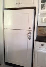 wallpaper covered fridge doors