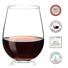not made of glass plastic stemless wine glasses personalized bulk set 4 unbreakable shatterproof reble for re