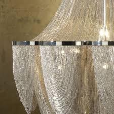modern large nickel 12 bulb minerva chandelier of chains