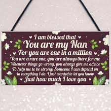 details about thank you gift for nan plaque nan and grandad gifts for grandpas keepsake