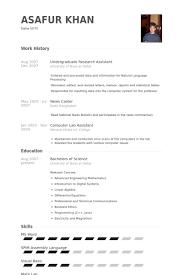 Undergraduate Resume Template Magnificent Undergraduate Research Assistant Resume Samples VisualCV Resume