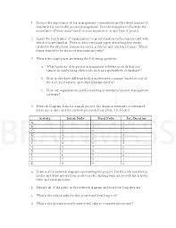 project management questions solution summary this solution addresses 4 project management questions