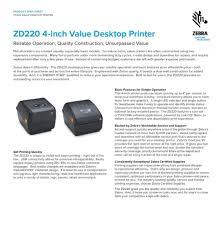 Baixe o driver zebra para tlp 2844 para melhorar o desempenho da impressora. Zebra Zd220 Printer Usb Computers Tech Printers Scanners Copiers On Carousell