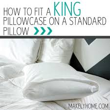 king size pillows on sale. Plain Pillows Hereu0027s A Quick Way To Fit Your Standard Sized Pillow Into King  Pillowcase It To King Size Pillows On Sale U