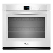 Electric Kitchen Appliances List Shop Whirlpool Single Electric Wall Oven White Common 27 In