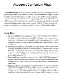 Academic Cv Template Pdf Make Photo Gallery Academic Resume Sample