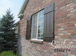 how to build board and batten shutters tutorial at sawdustsisters com