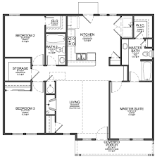Modern 3 Bedroom House House Plans For 3 Bedrooms Cool 3 Bedroom House Floor Plan Home