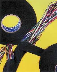 wire harness tape reduces squeaks and resists abrasion wiring harness tape original non adhesive dry vinyl tyco polyken� 007 consists of non woven polyester backing on black natural rubber adhesive that is single coated, self wound, and provides consistent unwind