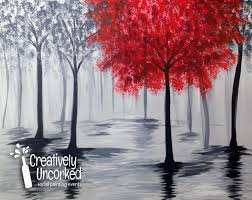 red tree reflection creatively uncorked creativelyuncorked com