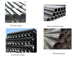 Types Of Pipes Pipe Materials And Types Of Joints Types Of Pipe Materials