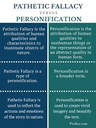 difference between pathetic fallacy and personification