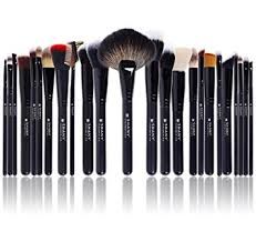 shany the masterpiece pro signature brush set 24 pieces handmade natural synthetic bristle with wooden