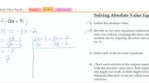 solve absolute value equalities
