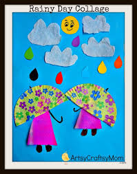 Rainy Day Chart Rainy Day Paper Collage Art For Kids Paper Collage Art