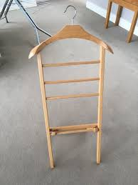 suit hanger valet stand wooden suit stand