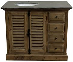 43 handcrafted reclaimed pine solid wood single bath vanity natural finish