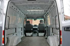 empty sprinter cargo van at start