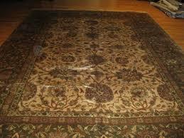 12 1 x 18 7 rose and gold sarouk antique persian rug
