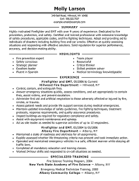 Firefighter Resume Templates Enchanting Firefighter Resume Examples Emergency Services Sample Resumes