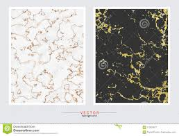 Wedding Invitation Set Templates Gold Marble Cover Background Vector Set Template Stock Vector