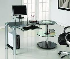 chrome office desk. Black Glass \u0026 Chrome Modern Executive Desk Office D