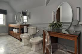 bathroom vanity table and chair. bathroom. bathroom with brown wooden makeup table oval mirror added acrilyc chair placed on vanity and d