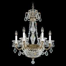 schonbek la scala empire 8 light crystal chandelier