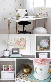cubicle office decor pink. gold pink home office details love the wall decor cubicle