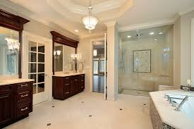 Luxury Master Bathroom Shower And Large Bath In New On Models Design