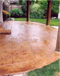 is stamped concrete slippery non slip