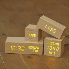 real wooden led clock designed in korea