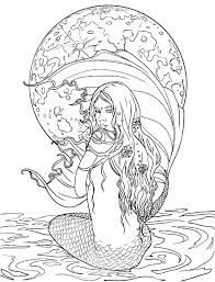 Mermaid Coloring Pages Printable Mermaid Coloring Pages For Adults