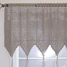 Patterns For Valances Gorgeous CROCHET CURTAIN PATTERN VALANCES Crochet Patterns Modern Curtain Styles