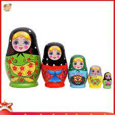 Set búp bê Nga 5 con trang trí sẵn giá cạnh tranh