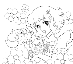 Lydie With Pets Coloring Pages For