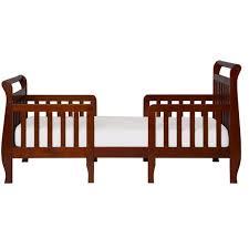 dream on me emma espresso toddler adjustable sleigh bed