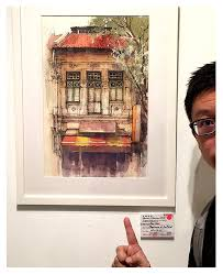this year s singapore watercolour society s annual show was a special one for me because both of my exhibited pieces got sold my was based on