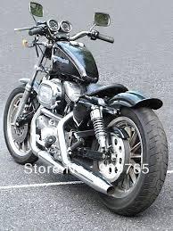 black rear fender for harley sportster xl solo cafe racer bobber
