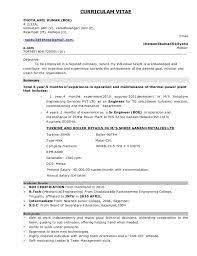 Power Plant Mechanical Engineer Resumes Resume _thota Anil Kumar Boe