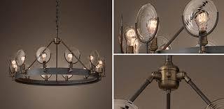restoration hardware chandelier. Gaslight Lens Chandelier Collection RH For Restoration Hardware Lighting Idea 17 L