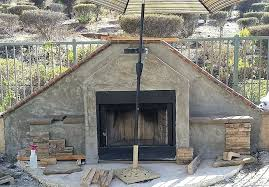 build a stone fireplace how to build an outdoor stacked stone fireplace for awesome building a